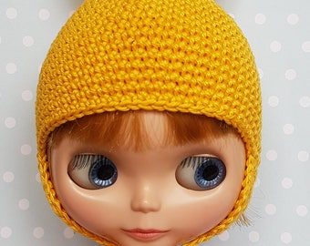 Blythe Hat Yellow Bunny