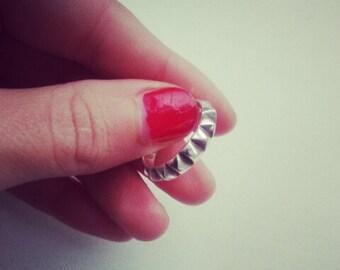 Handmade Sterling Silver Pyramid Ring