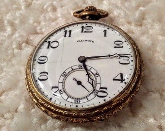 ILLINOIS POCKET WATCH. Vintage. 21 jewels. Grade 274