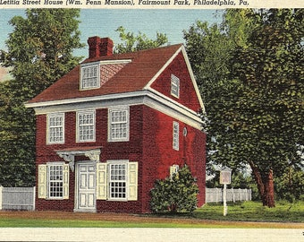 Philadelphia, Pennsylvania, Letitia Street House, Fairmount Park - Vintage Postcard - Postcard - Unused (VVV)