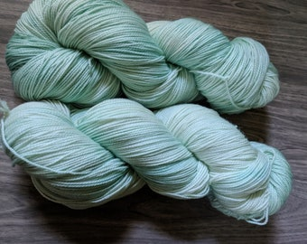 Yarn, Sock Yarn, Hand Dyed Yarn, Green Yarn, Blue Yarn Superwash Merino Wool - Sea Spray