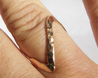thumb ring - ring - V ring - chevron ring - thumb - Silver v ring - mid knuckle - silver thumb ring - gold thumb ring - thumb ring gold
