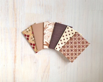 Notebooks: Tiny Journal Set of 6, Geometric, Wedding, Favors, Stocking Stuffer, For Her, For Him, Gift, Unique, Mini Journals, Kids, T062