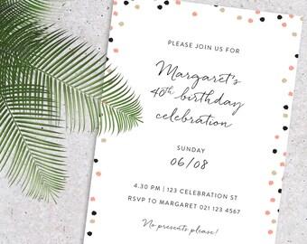 Confetti Dots Party Invitation