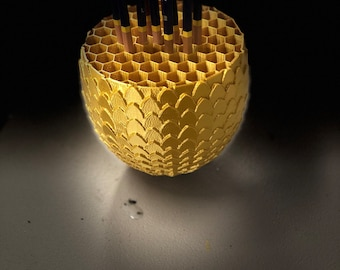 Dragon Egg Pencil holder - 3D Printed - Game of Thrones Style