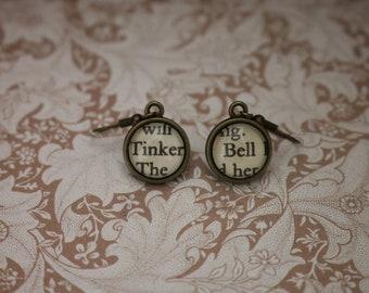 Tinker Bell Earrings ~ Peter Pan ~ J.M. Barrie ~ Captain Hook ~ Neverland ~