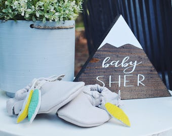 Baby Shower Nursery Mountain Sign