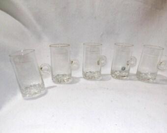 Sale- Vintage Set of 5 Irish Coffee Glasses