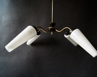Chandelier mid century, hanging lamp, torch, cone lamp, large ceiling lamp,