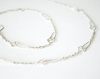 Silver Arch Chain Necklace