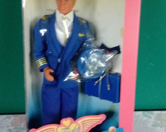Mattel Vintage 1989 Flight Time Ken Doll  Barbie Doll