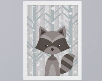 Raccoon - unframed art print