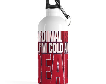 Cardinal Red Stainless Steel Water Bottle
