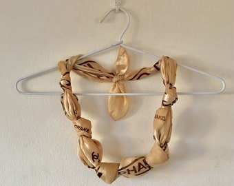 Vintage Chanel Scarf Necklace **hand made necklace**