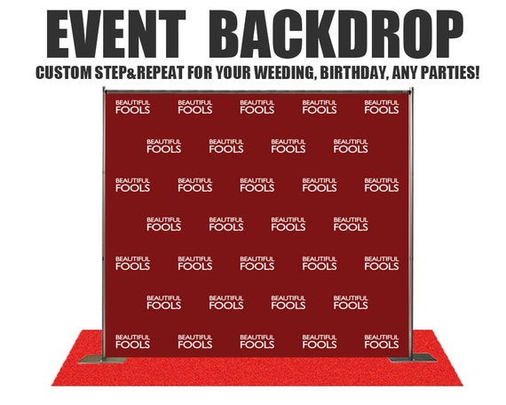Excellent Custom Step and Repeat Photo Backdrop for Weddings,Birthday,baby  PA79
