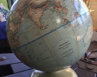 Vintage Rand McNally Political Globe