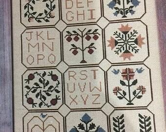 "SUMMERSALE Vintage 1986 Cinnamon Hearts Needleworks ""Cinnamon Samplings"" Designs by Christine Rogalski Counted Cross stitch pattern"