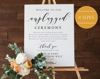 Unplugged Wedding Sign-Unplugged Ceremony Sign-Unplugged Wedding-Unplugged Sign-Wedding Ceremony Sign-PDF Instant Download -SN029_UC