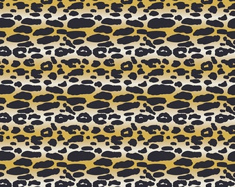 1/2 yard Art Gallery Indigo and Asters, Animalia Exotica in Sand 24806 designed by Bari J