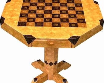 Table d'échecs chêne moyen