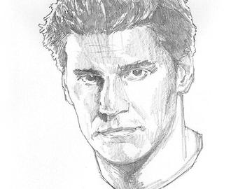 Buffyverse: Angel - Portrait - Sketch Drawing - Skizze (Original)
