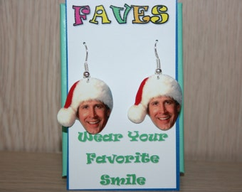 Chevy Chase Christmas Vacation Clark Griswold Dangle Earrings Jewelry