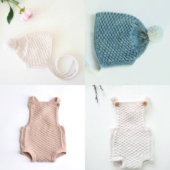 2piece knitting pattern baby outfit baby bonnet knitting 2piece knitting pattern baby outfit baby bonnet knitting pattern baby romper knitting pattern coming home outfit simple knitting dt1010fo