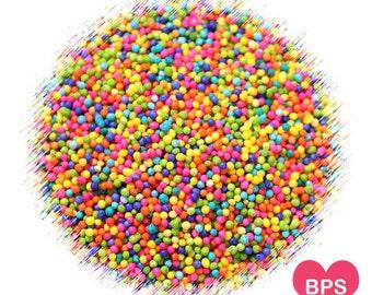 Bright Rainbow Nonpareil Sprinkles, Rainbow Sprinkles, Rainbow Nonpariels, Rainbow Party Sprinkles, Rainbow Cake Pop Sprinkles, Fairy Bread