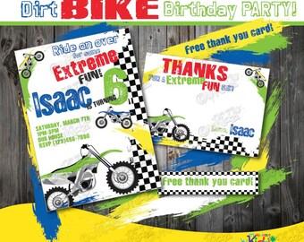 Dirt Bike Birthday Invitation-DIY Dirt Bike Party Invitation-Printable Dirt Bike Invite-Dirt Bike Birthday Invite-Dirt Bike Party Invite