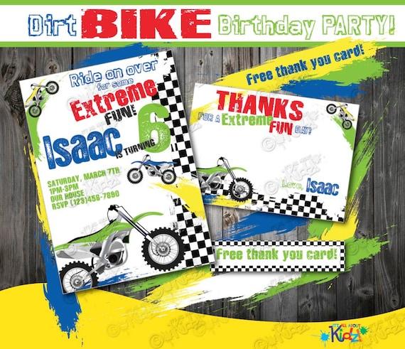 Dirt bike birthday invitation diy dirt bike party filmwisefo