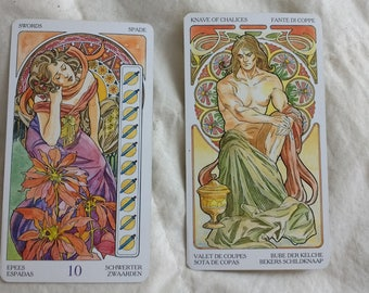Two Card Reading, Art Nouveau Deck