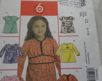 Girls top pattern uncut McCalls 5456