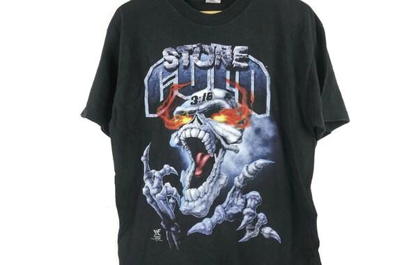 Vintage 90s Stone Cold Shirt Size XL Free Shipping Stone Cold Steve Austin Shirt WWF 3:16 Wrestling Rap Tees Bootleg 08vWetXo