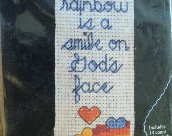 Rainbow Bookmark Counted Cross-Stitch Kit