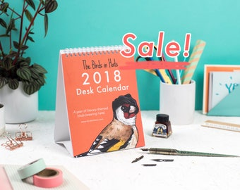 The 2018 Birds in Hats Desk Calendar