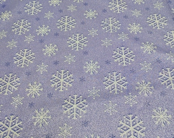 Snowfall Amethyst-Purple with Sparkles Cotton Fabric from Michael Miller