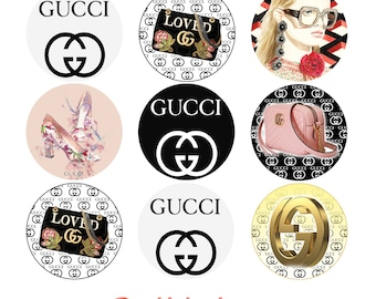 GUCCI Inspired, Set of 2 Edible Transfer Sheets for making Chocolate Oreo & Cupcake toppers, Gucci Theme Birthday edible Party Favors