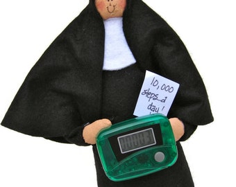 Nun doll Sister doll Catholic gift-The Step Sister, the sister who likes to walk