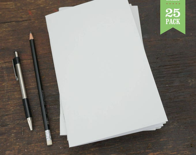 Bulk Notebooks, White, Blank Notebook, Sketchbooks, Journals, 5 x 8. Great for Notes, Sketching, and Journaling. Bulk Journals. Set of 25.