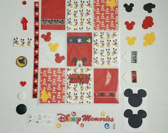 Pocket letter inspiration kit. Mickey mouse inspired pocket letter. Double-sided. Free shipping.