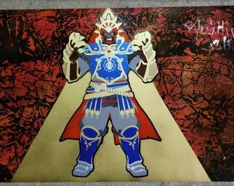 Legend Of Zelda, Ganondorf Spray Paint Art