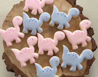 Royal Iced Vanilla Cookie - Dinosaurs