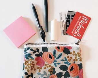 Pink Floral Pouch/Wallet