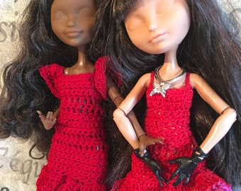 "Doll Outfit EA - Pullip - 2 red dresses ""tango Passion"""