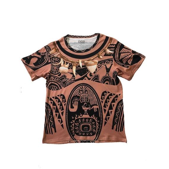 Men 39 s maui moana inspired shirt for Maui tattoo stencil