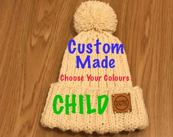 Winter Warmer Bobble Hat (CHILD) Request your own colour