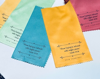 25- 2018 Assorted Yeartext Microfiber cloths