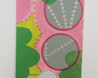 "Original Flashcard Painting ""0+9"""