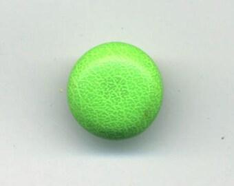 Small green neon 12 mm fabric button
