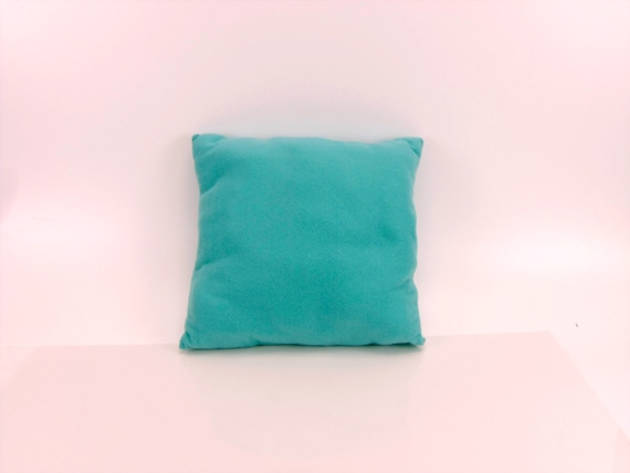 Decorative Bed Pillow Gift For Kids Turquoise Fleece Square Simple Teal Decorative Bed Pillows
